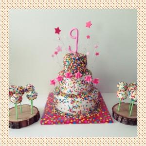 confetti-taart