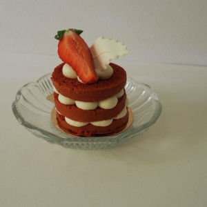 mini naked cake red velvet