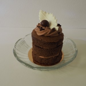 mini naked cake chocolade